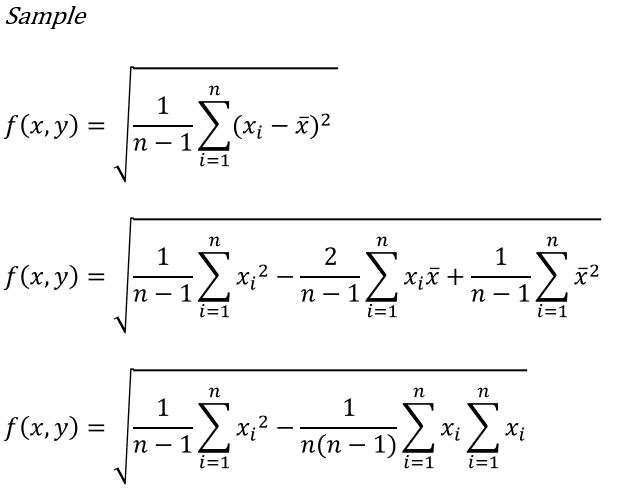 how to find the standard deviation of a sample population